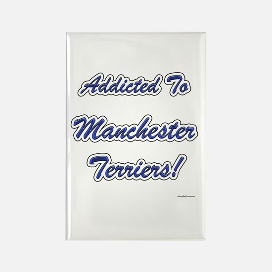 Manchester Addicted Rectangle Magnet
