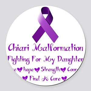 fighting for my daughter Round Car Magnet