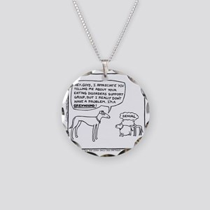 Thanks, But No Thanks Necklace Circle Charm