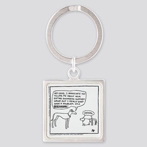 Thanks, But No Thanks Square Keychain