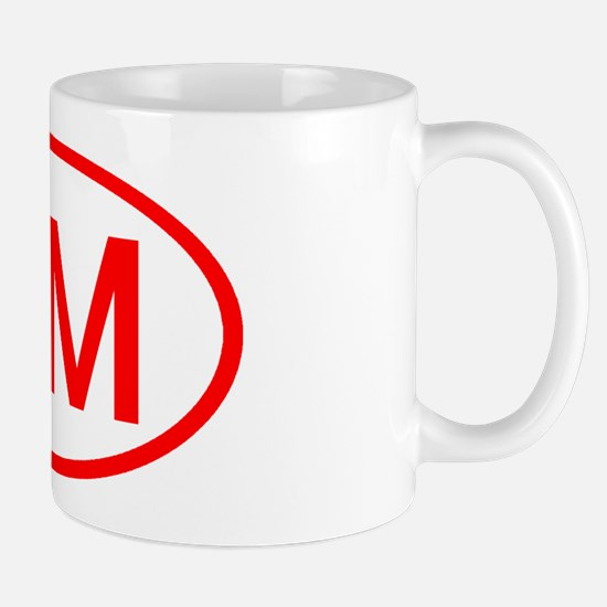 VM Oval (Red) Mug