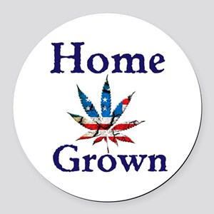 Home Grown Round Car Magnet