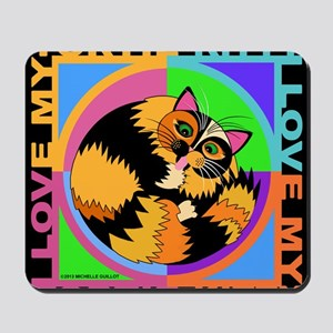 Tortie Kitty Cat Graphics Mousepad
