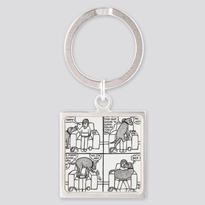 Poppy The Lapdog Square Keychain