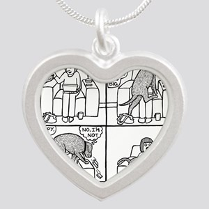Poppy The Lapdog Silver Heart Necklace