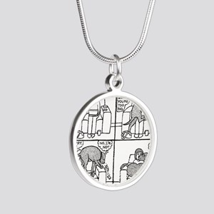 Poppy The Lapdog Silver Round Necklace