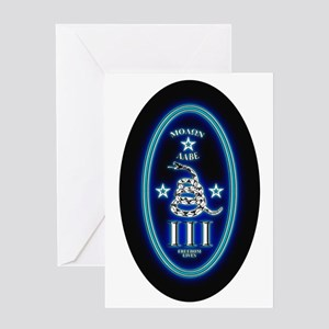 Molon Labe (Vertical Glow) Greeting Card