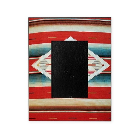 Vintage Red Mexican Serape Picture Frame By Admincp1903001