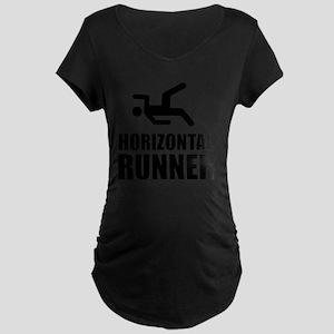 Horizontal Runner Maternity Dark T-Shirt