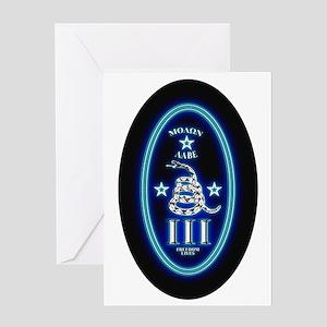 Molon Labe - Vertical Blue Greeting Card