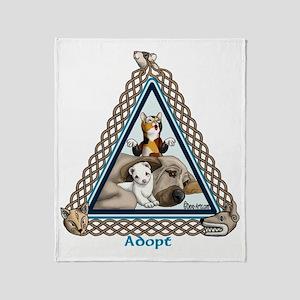 Adopt Celtic Throw Blanket