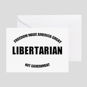 Libertarian WB Oval Greeting Card
