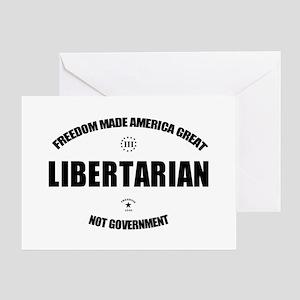 Libertarian WBL Oval Greeting Card