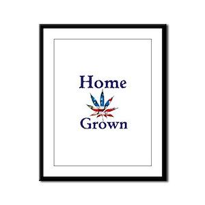 Home Grown Framed Panel Print