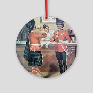 McEwans Ale Poster Round Ornament