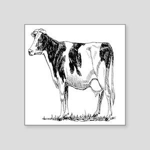 """holstein cow Square Sticker 3"""" x 3"""""""