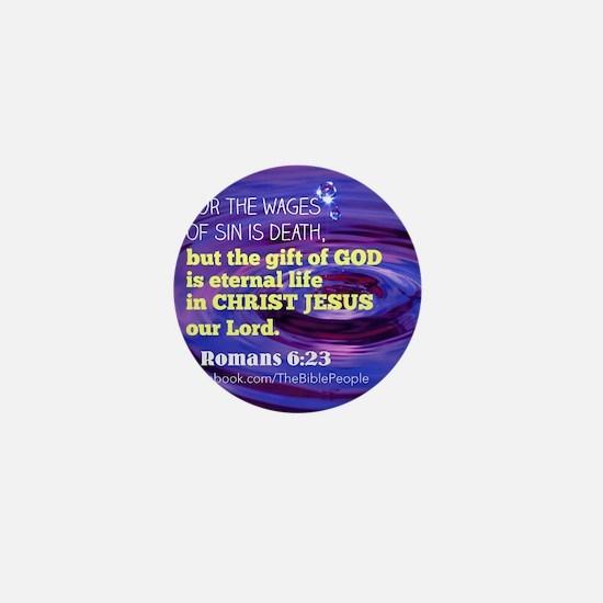 Romans 6:23 Mini Button