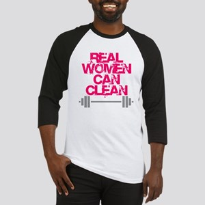 Real Women Can Clean (Pink) Baseball Jersey