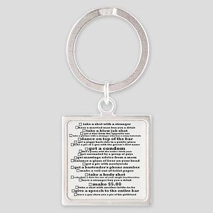 Bachelorette Party Checklist Square Keychain
