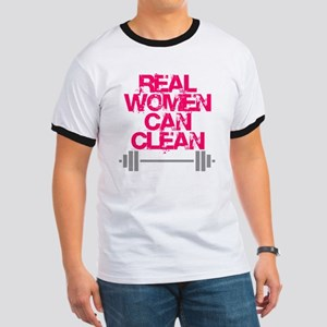 Real Women Can Clean (Pink) Ringer T