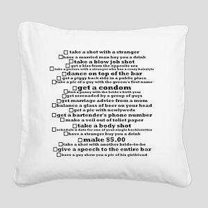 Bachelorette Party Checklist Square Canvas Pillow