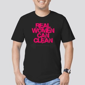 Real Women Can Clean ( Men's Fitted T-Shirt (dark)