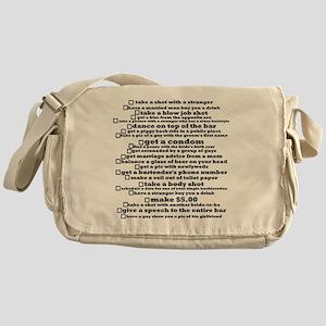 Bachelorette Party Checklist Messenger Bag