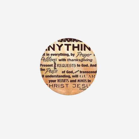 Philippians 4:6-7 Mini Button