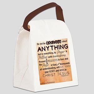 Philippians 4:6-7 Canvas Lunch Bag