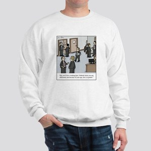 All White Office Sweatshirt