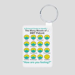 Many Moods Aluminum Photo Keychain