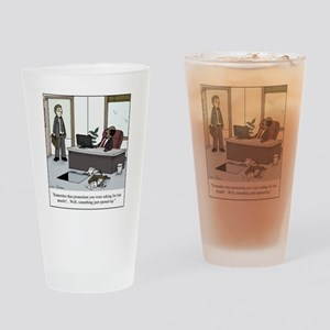 Job opening Drinking Glass
