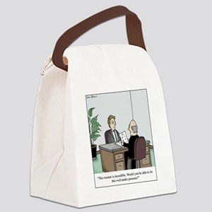 Resume Lie Canvas Lunch Bag