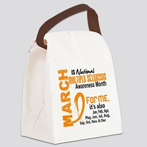 D MS Awareness Month Canvas Lunch Bag