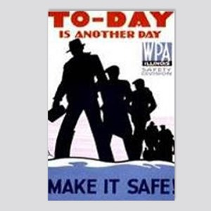WPA Safety Poster - 1938 Postcards (Package of 8)