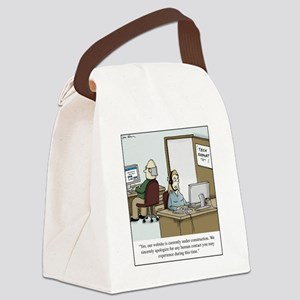Human contact Canvas Lunch Bag