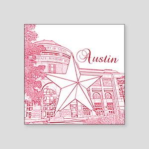 """Austin_10x10_BullockTexasSt Square Sticker 3"""" x 3"""""""