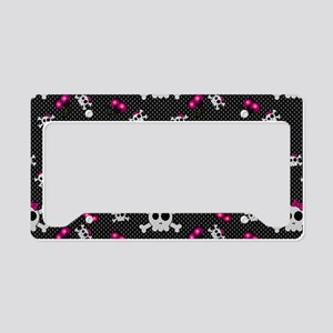 Girly Skulls License Plate Holder