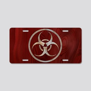 biohaz-steelwood-OV Aluminum License Plate