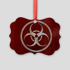 biohaz-steelwood-OV Picture Ornament