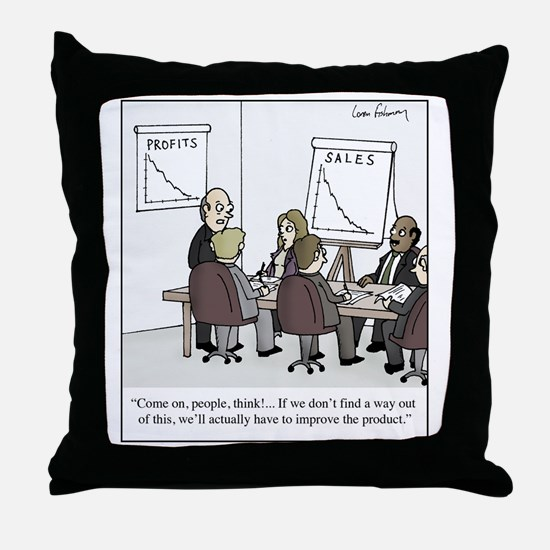 Improve the product Throw Pillow