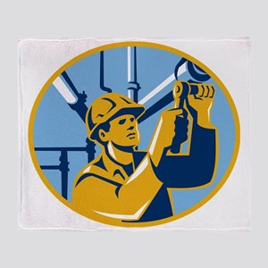 Pipefitter Maintenance Gas Worker Pl Throw Blanket