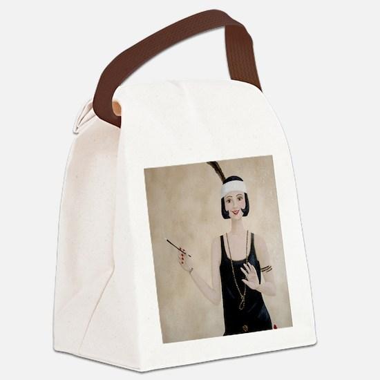 StephanieAM Flapper Canvas Lunch Bag