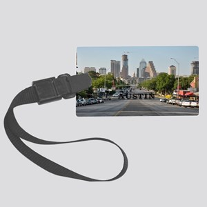 Austin_Rect_Color_DowntownWithCa Large Luggage Tag