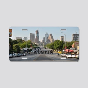 Austin_Rect_Color_DowntownW Aluminum License Plate