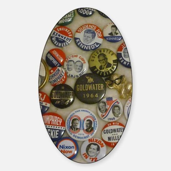 Vote 4 Me Sticker (Oval)