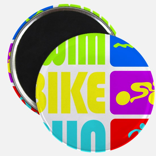 TRI Swim Bike Run Figures Magnet