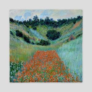 Claude Monet - Poppy Field near Givern Queen Duvet