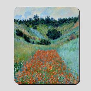 Claude Monet - Poppy Field near Giverny  Mousepad