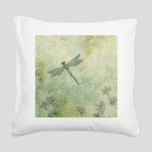StephanieAM Dragonfly Square Canvas Pillow